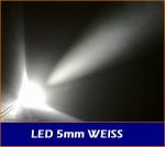"LEDs 5mm "" weiss "" 22.000mcds 20�"