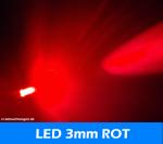 "LED 3mm "" rot "" 6.000mcds 30° LEDs"