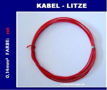 "Kabellitze / Kabel 0,14mm² in ""rot"" 1 Meter"