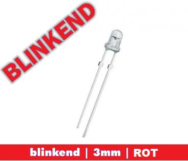 "LED BLINKEND 3mm ""ROT"" 6.000 mcd  LEDs"