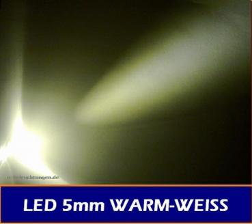 "LED 5mm ""warmweiss "" 20.000 mcd 20° LEDs"