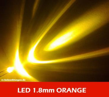 "Mini LED 1.8mm ""orange"" ca. 30° 3000mcd LEDs"