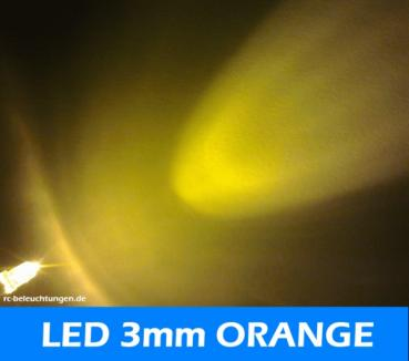 "LED 3mm "" orange "" 7000mcds 30° LEDs"